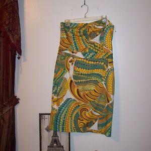 TRINA TURK STRAPLESS DRESS SUMMER 2012 SZ 12